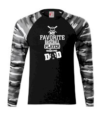 My favorite baseball player - DAD / MOM Camouflage LS