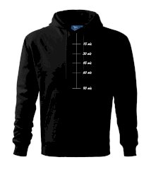 Sweat meter-minutes Mikina s kapucňou hooded sweater