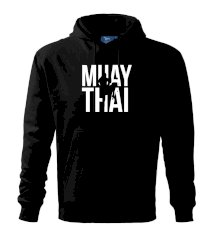 Nápis Muay Thai Mikina s kapucňou hooded sweater