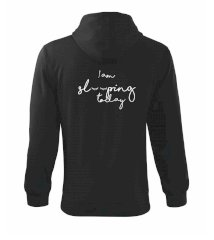 I am sleeping today Mikina s kapucňou na zips trendy zipper