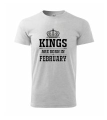 Kings are born in February - Heavy new - triko pánské