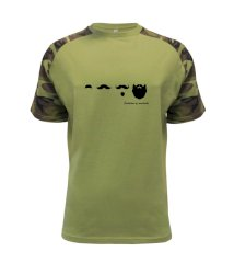 Evolution mustache Raglan Military