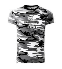 My favorite baseball player - DAD / MOM Army CAMOUFLAGE
