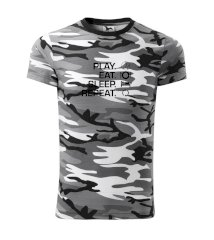 Play Eat Sleep Repeat tenis Army CAMOUFLAGE