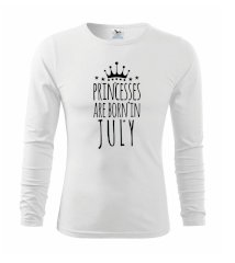 Princesses are born in July Tričko detské Long Sleeve