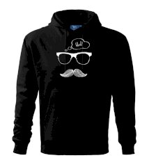 Mustache what? Mikina s kapucňou hooded sweater